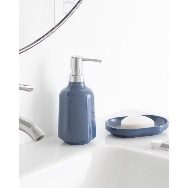 Step Melamine Soap Pump, Denim