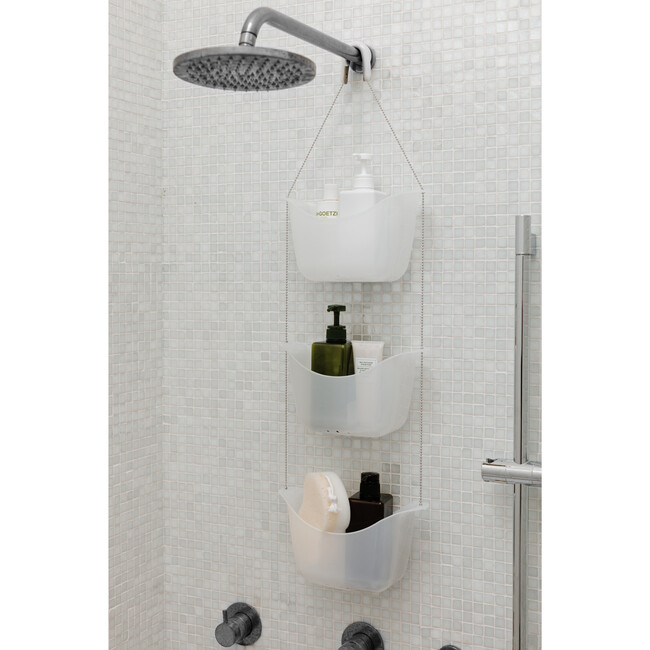 Bask Shower Caddy, White