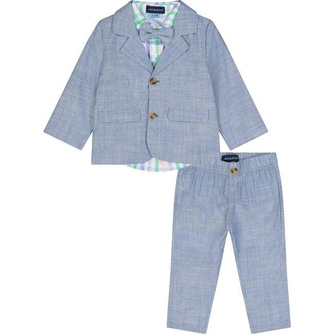 Infant Chambray Suit Set, Blue