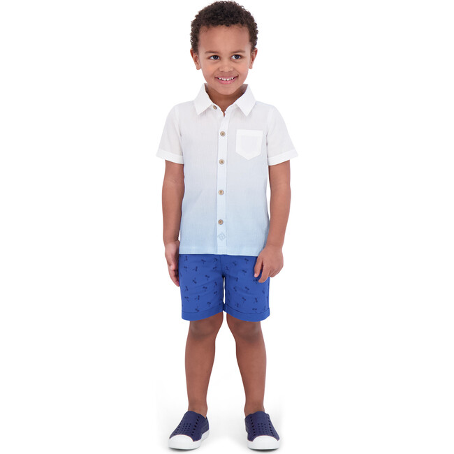 Infant Ombre Button Down Shirt, White