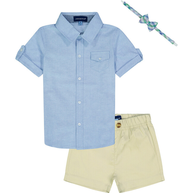 Infant Shorts Set, Light Blue