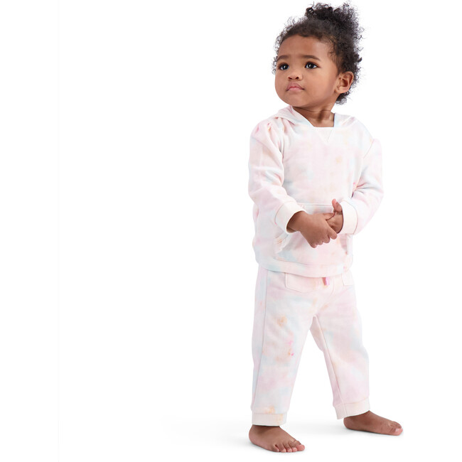Baby Pastel Tie Dye Sweatshirt Set, Pink