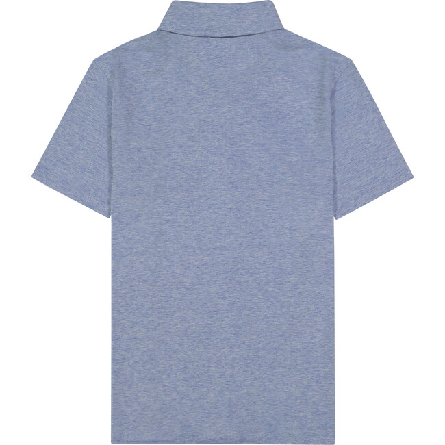 Knit Polo Shirt, Light Blue