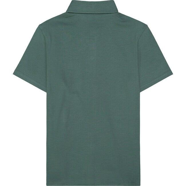 Knit Polo Shirt, Green
