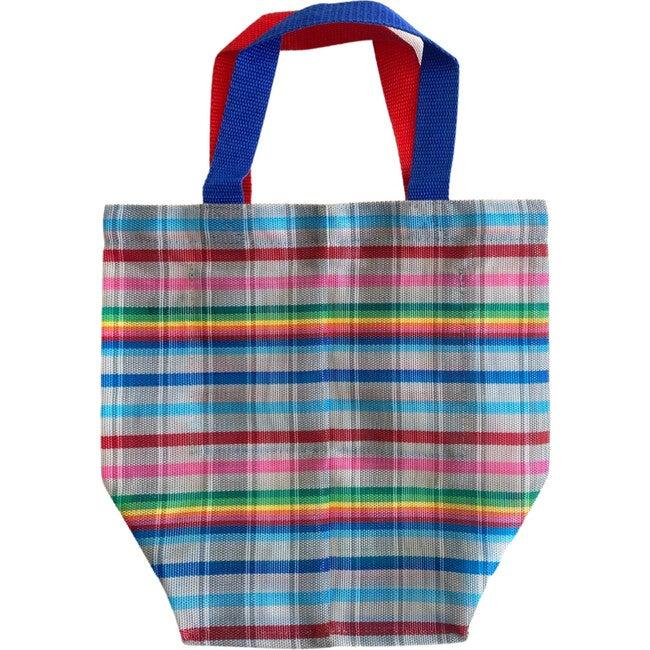 Grey Rainbows Oversized Beach Bag