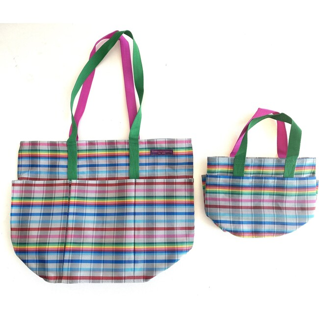 Grey Rainbow Garden Pockets Galore Bag