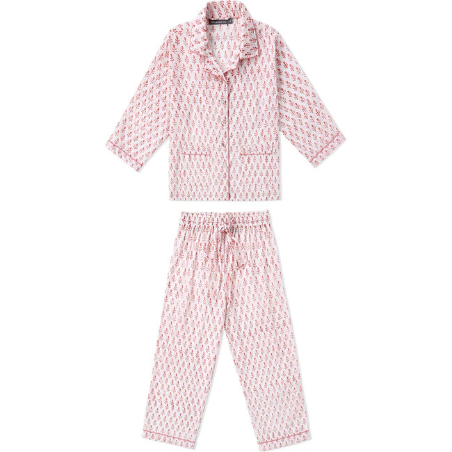 Block-Printed Loungewear Gift Set, Pink City