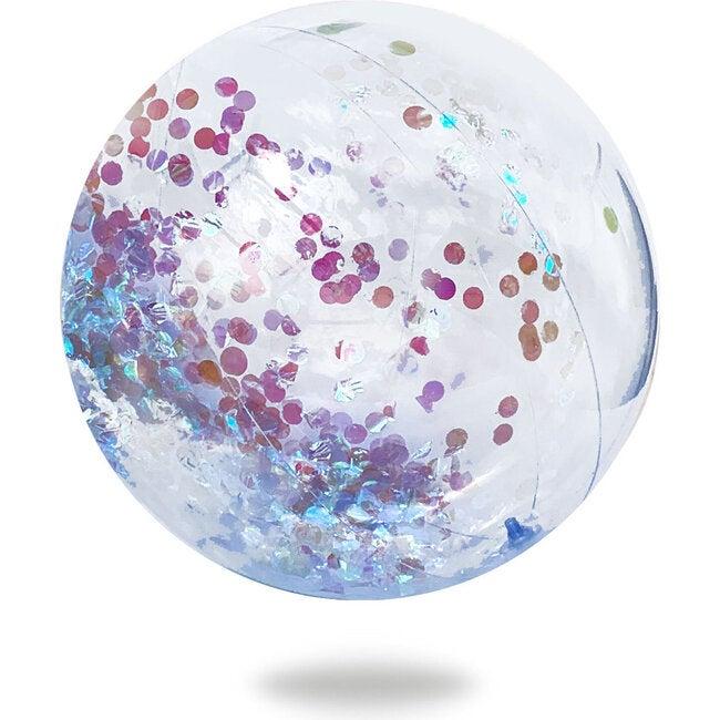Cue The Confetti Beach Ball, Iridescent