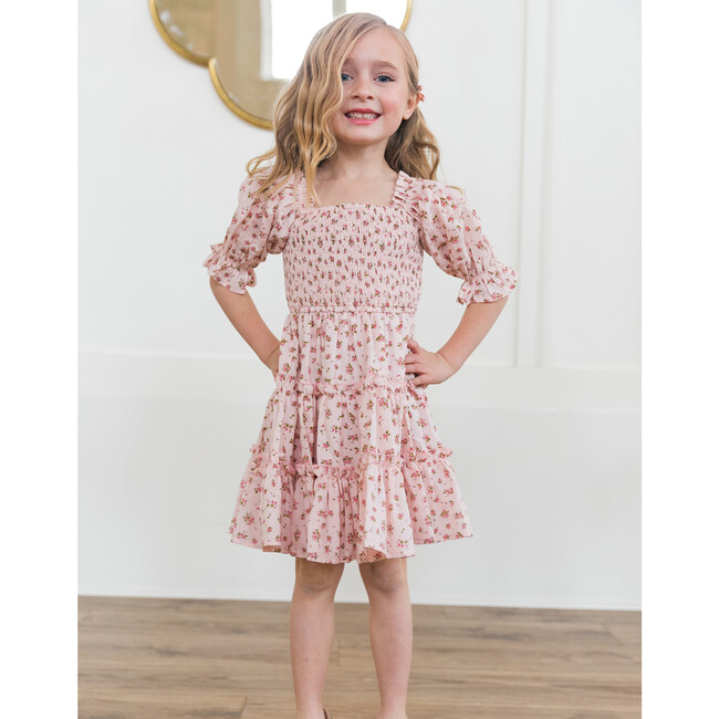 Mini Madeline Dress, Pink and Green Floral