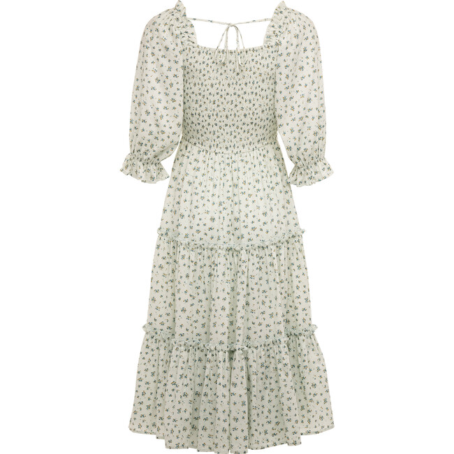 Women's Madeline Dress, Blue and Green Floral