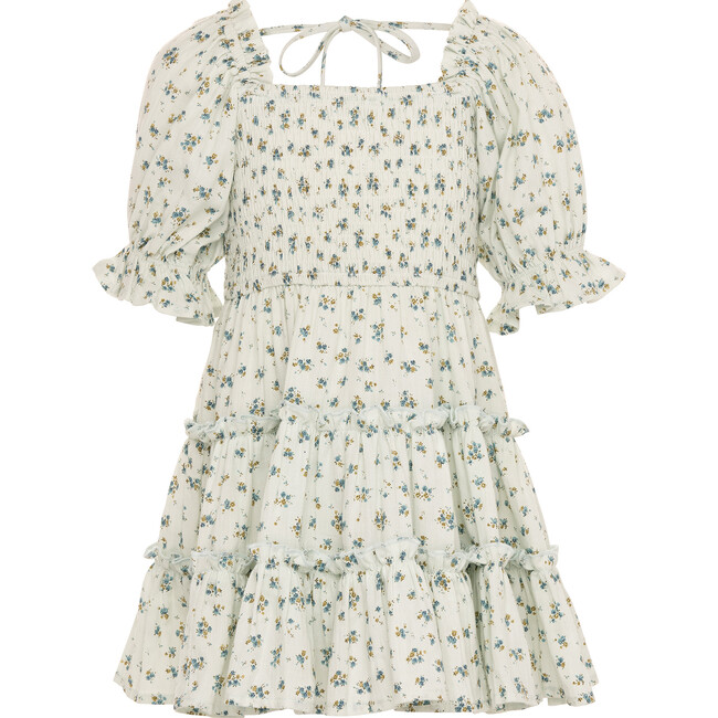 Mini Madeline Dress, Blue and Green Floral