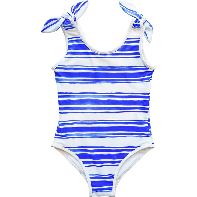 Tie Swimsuit, Sea Stripe