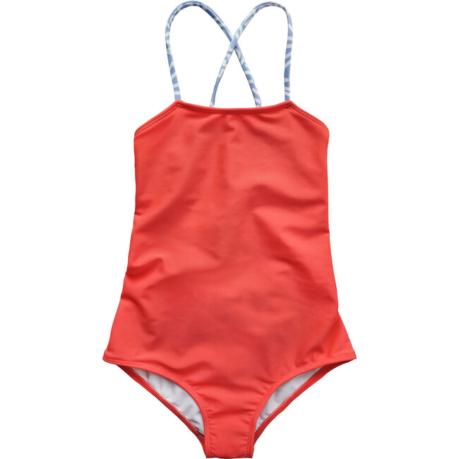 Action Swimsuit, Red Coral