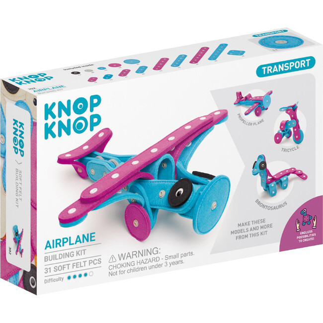 Airplane 31-Piece Felt Building Kit