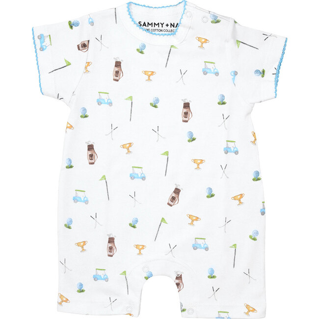 Golf Outing Print Summer Romper