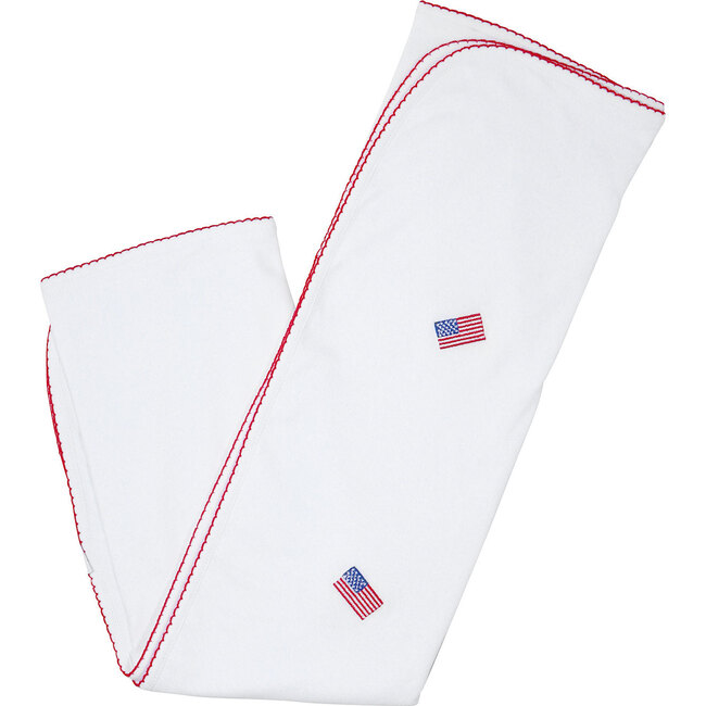 American Flag Embroidered Blanket - Blankets - 1