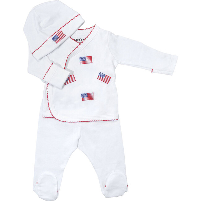 American Flag Embroidered Take Me Home Set / Layette