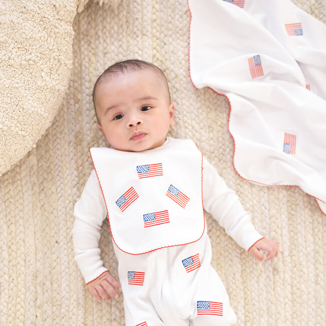 American Flag Embroidered Blanket
