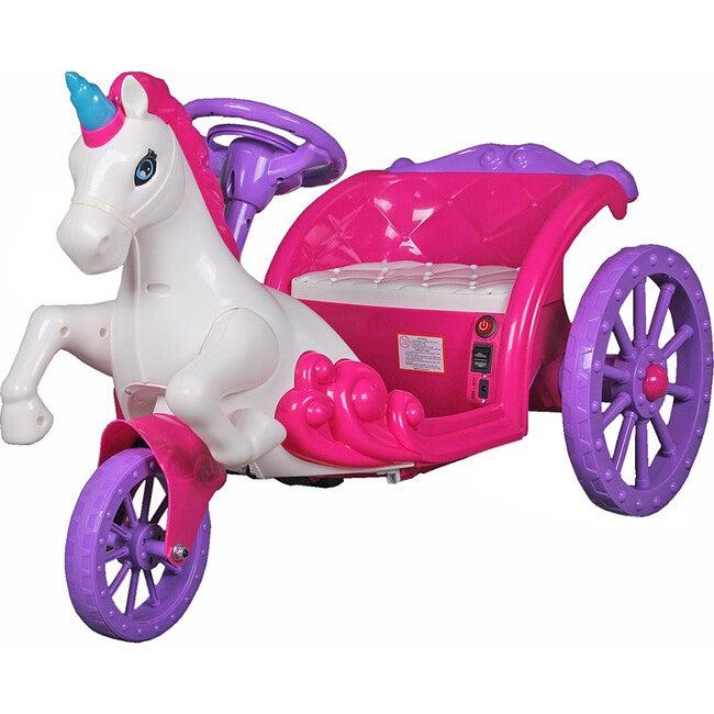 Unicorn Carriage Ride On 6V, Pink/Purple