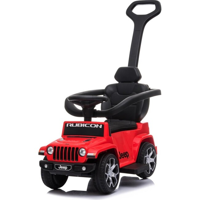 3-in-1 Jeep Rubicon Push Car, Red