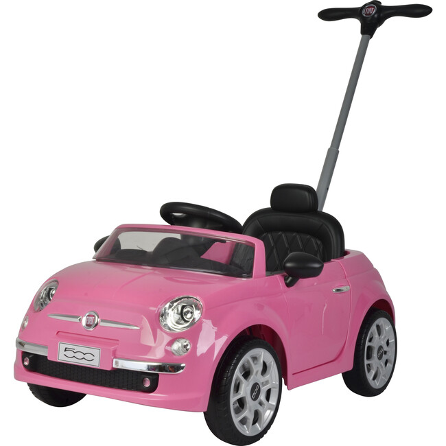 Fiat 500 Push Car, Pink
