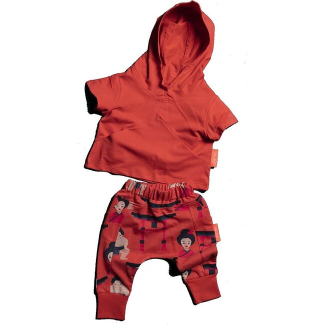 Baby Sumo Hooded Set, Red