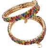 Rainbow Rave Wrap-Around Bracelet Set - Bracelets - 1 - thumbnail
