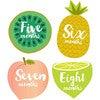 Little Tutti Frutti Monthly Baby Stickers - Keepsakes & Mementos - 2
