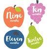 Little Tutti Frutti Monthly Baby Stickers - Keepsakes & Mementos - 3