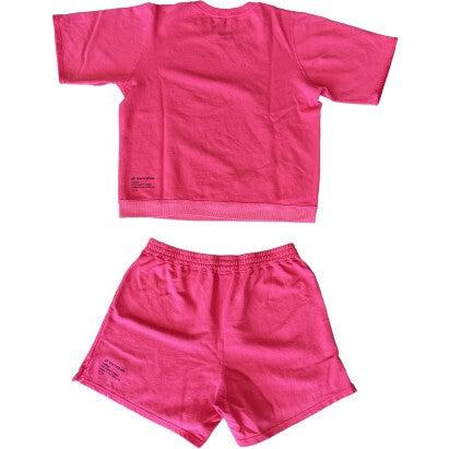 Adult Short Sweat Set, Raspberry