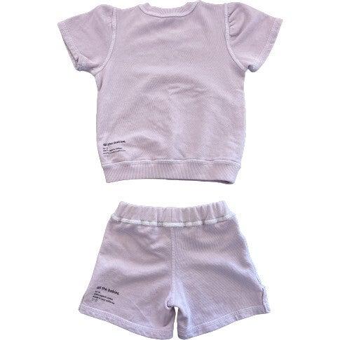 Lil' Short Sweat Set, Lilac