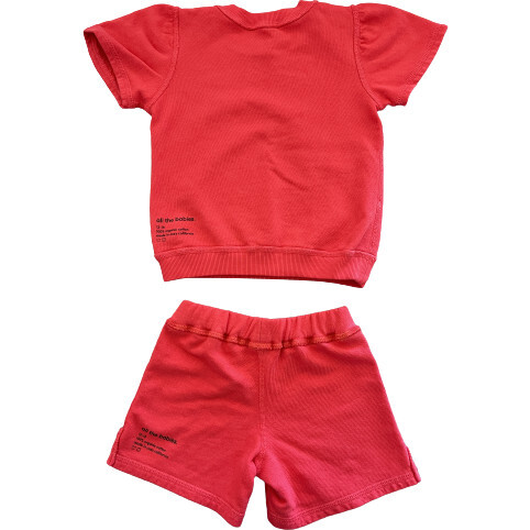 Lil' Short Sweat Set, Raspberry