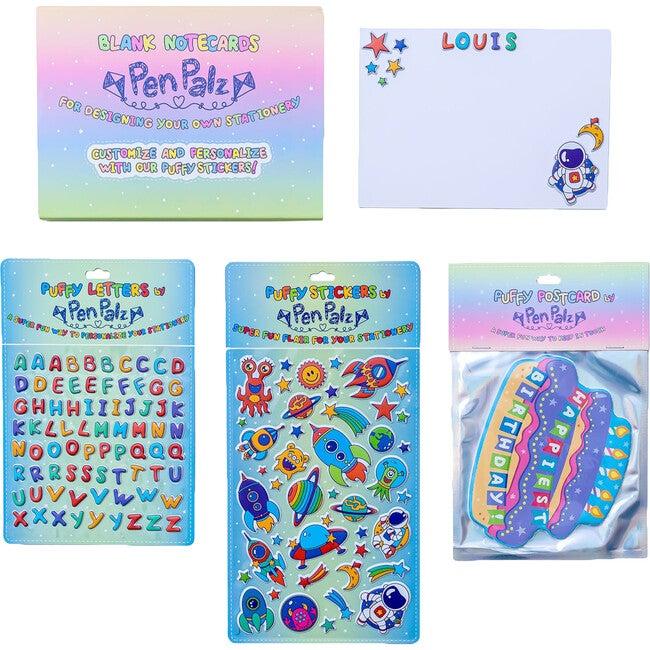 'Happiest Birthday' Puffy Stationery Bundle, Blue