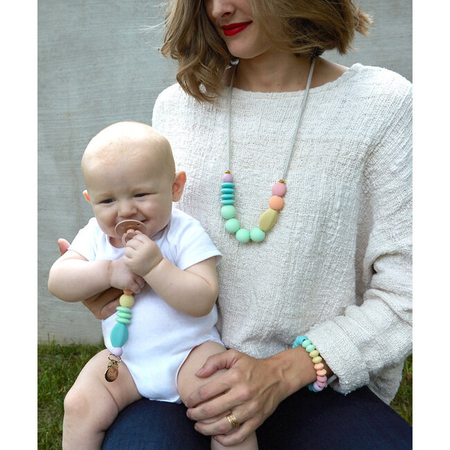 *Exclusive* Rainbow Sherbet Signature Teething Necklace