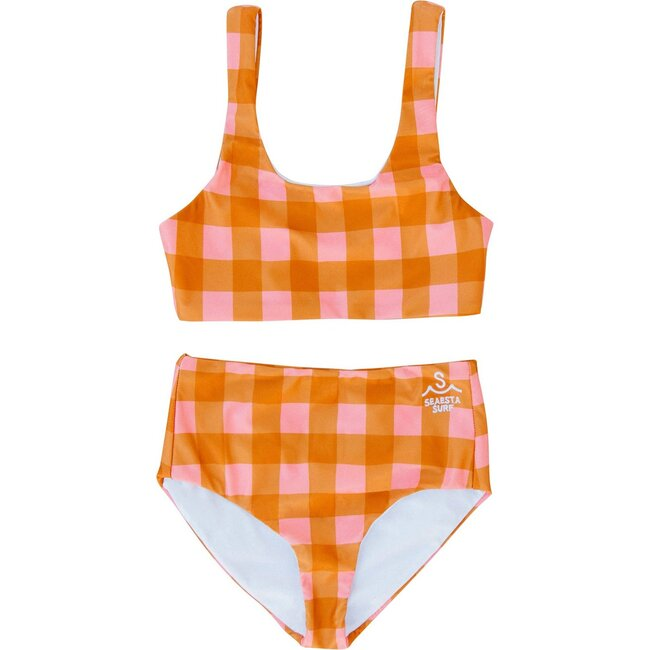 Seaside Gingham, Two Piece Swimsuit