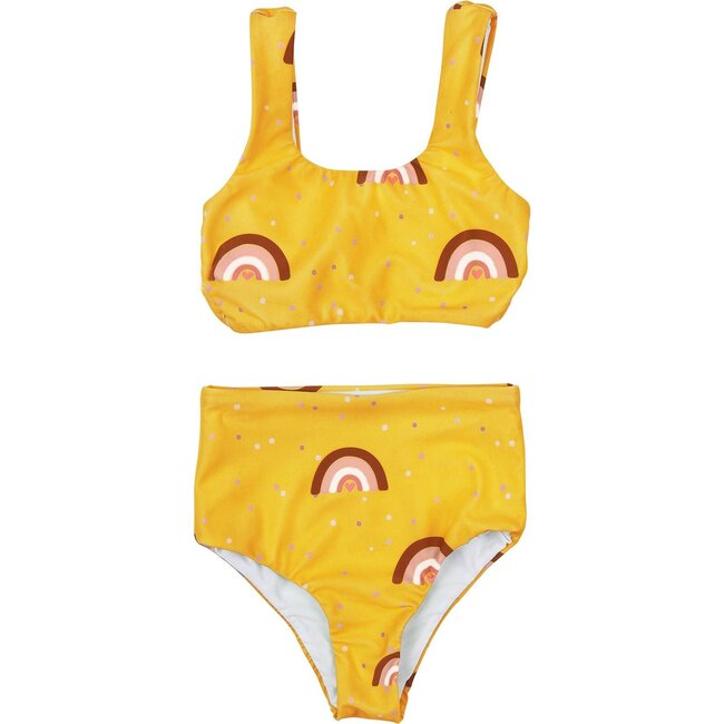Sea Arches, Two Piece Ochre Swimsuit