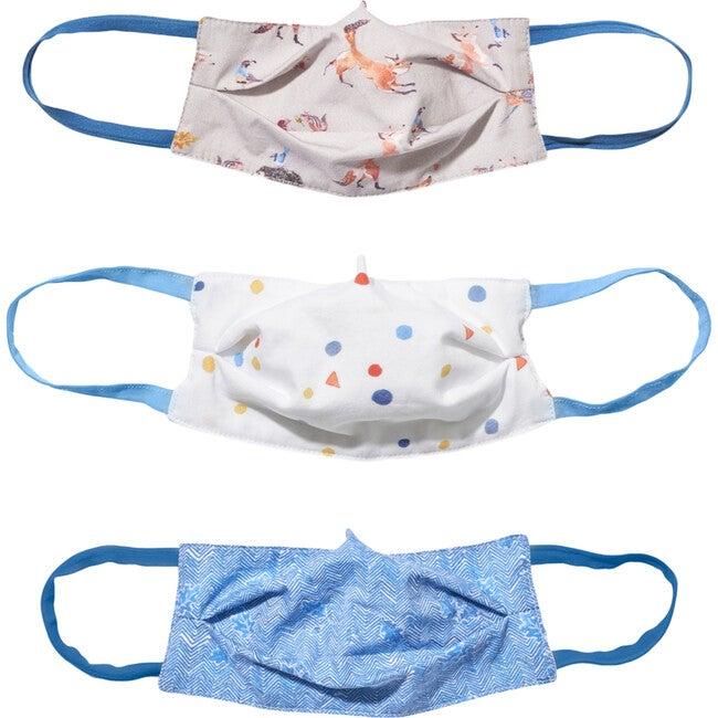 Child 3 Masks Set, Foxes & Oak