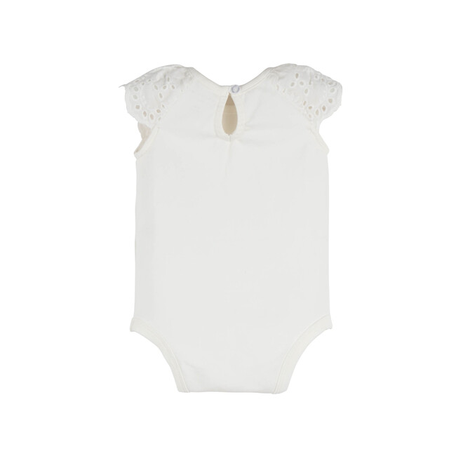 Eva Eyelet Bodysuit, White