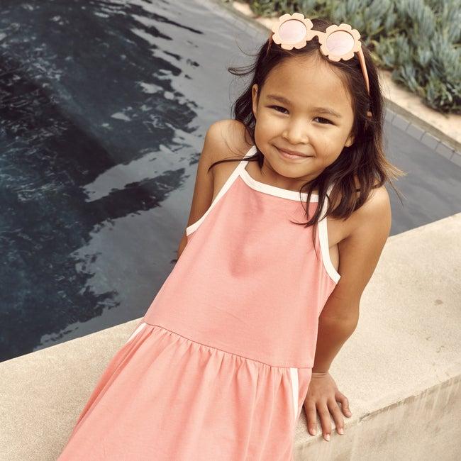 Tasmai Dress, Coral Rose