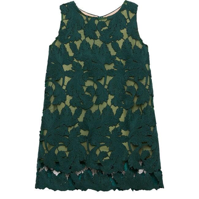 Scoop Neck Lace Dress, Basil