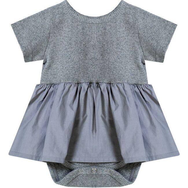 Skirt Bodysuit, Gray