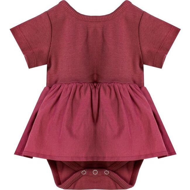 Skirt Bodysuit, Red