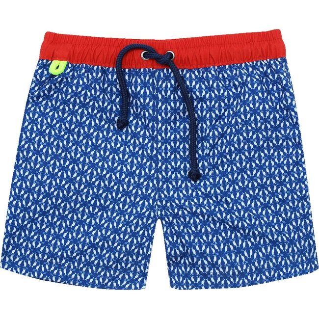 Meno Navy Kangaroos Swim Trunks, Blue