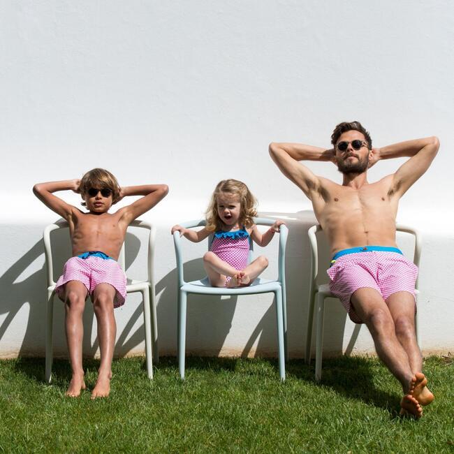 Meno Miami Beach Swim Trunks, Pink