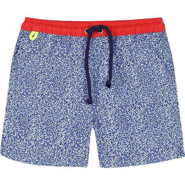 Meno Off The Coast Swim Trunks, Blue