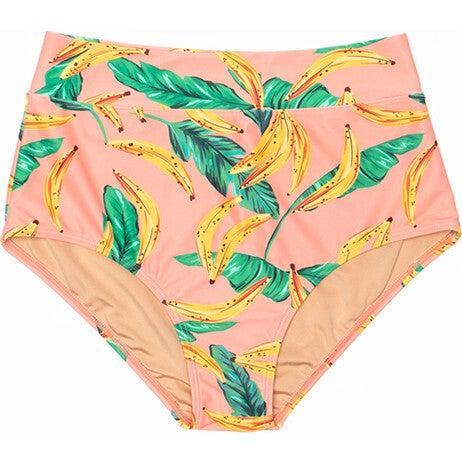 Women's Joana High Rise Moderate Coverage Swim Bottom, Banana Palm