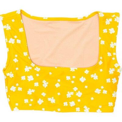 Women's Clementine Square Neck Swim Top, Sun Sprite
