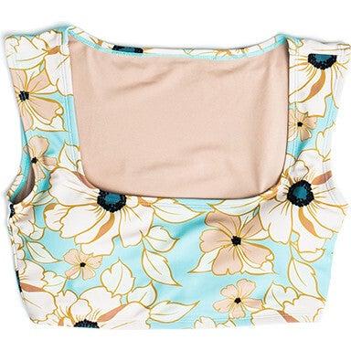 Women's Clementine Square Neck Swim Top, Eden Rose