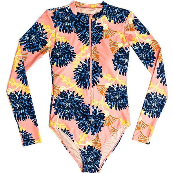Women's Mila LS One Piece Swimsuit, Coastal Bloom