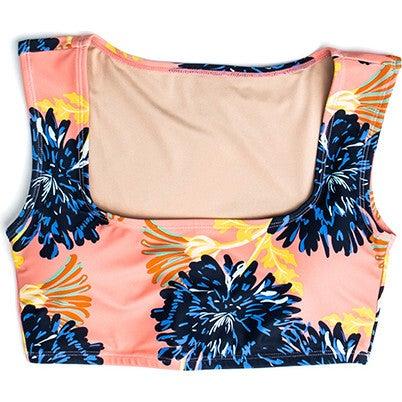 Women's Clementine Square Neck Swim Top, Coastal Bloom